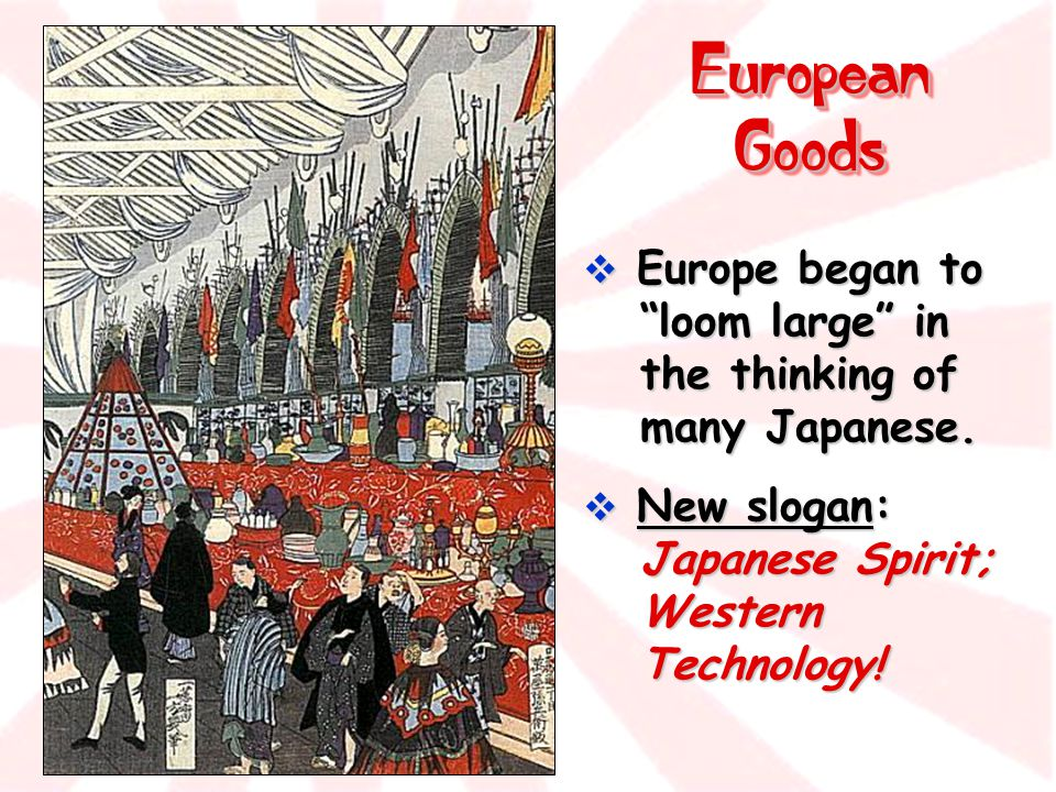 European Goods Europe began to loom large in the thinking of many Japanese.