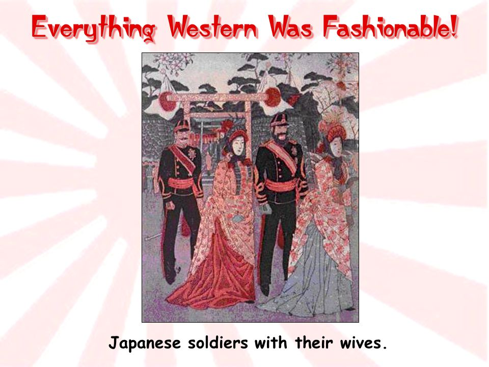 Everything Western Was Fashionable!