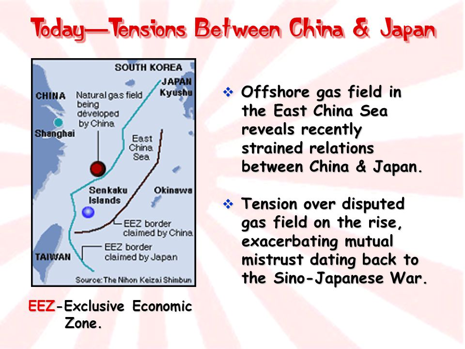 Today—Tensions Between China & Japan
