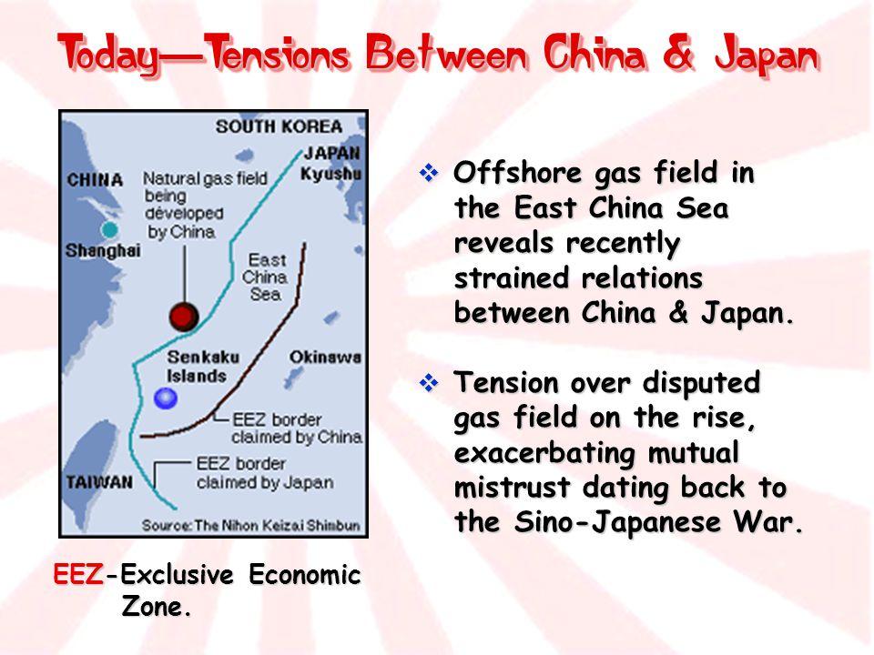 Today—Tensions Between China & Japan