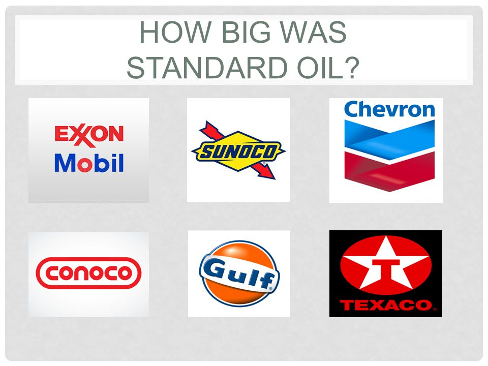 How BIG was standard Oil