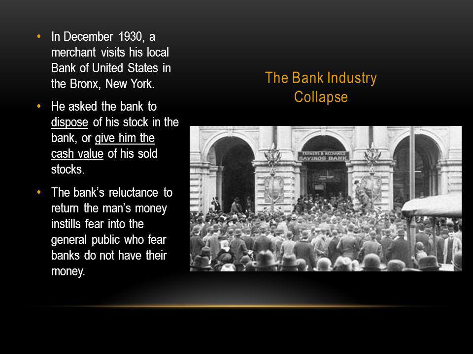 The Bank Industry Collapse