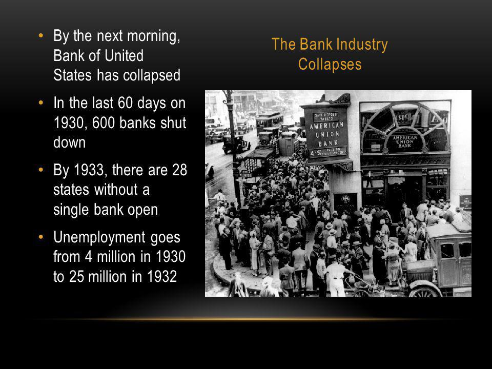 The Bank Industry Collapses