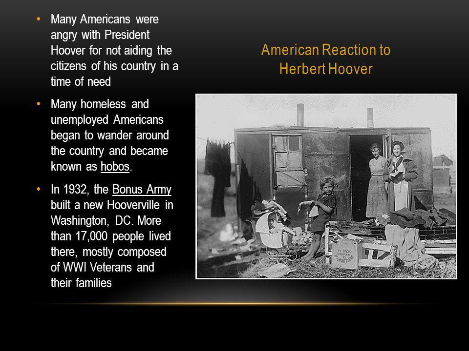 American Reaction to Herbert Hoover