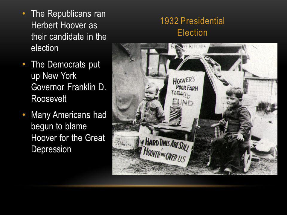 1932 Presidential Election