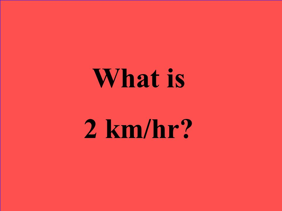 What is 2 km/hr