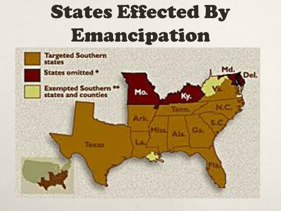 States Effected By Emancipation