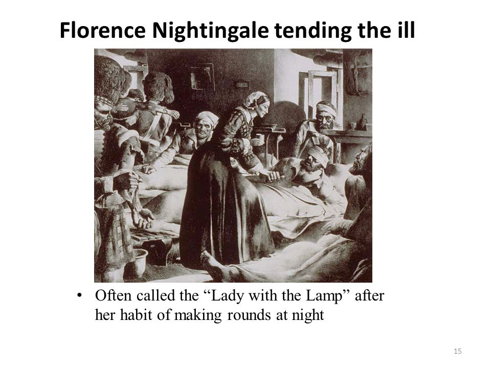 Florence Nightingale tending the ill