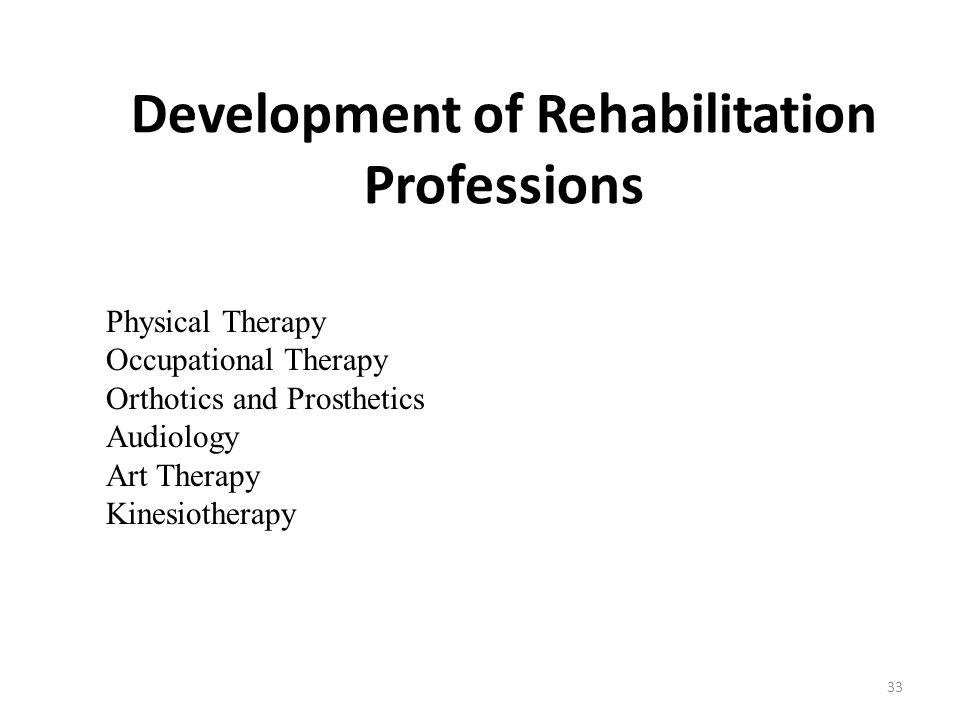 Development of Rehabilitation Professions