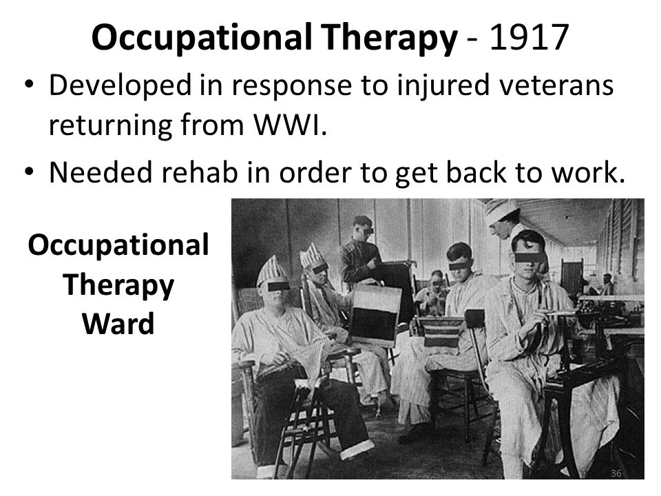 Occupational Therapy - 1917