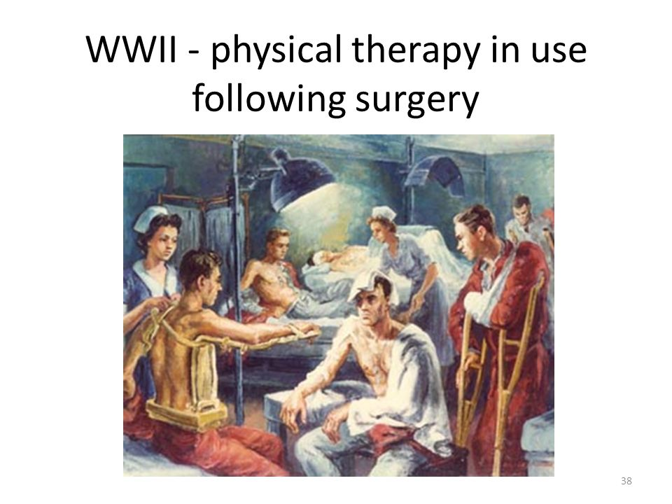 WWII - physical therapy in use following surgery