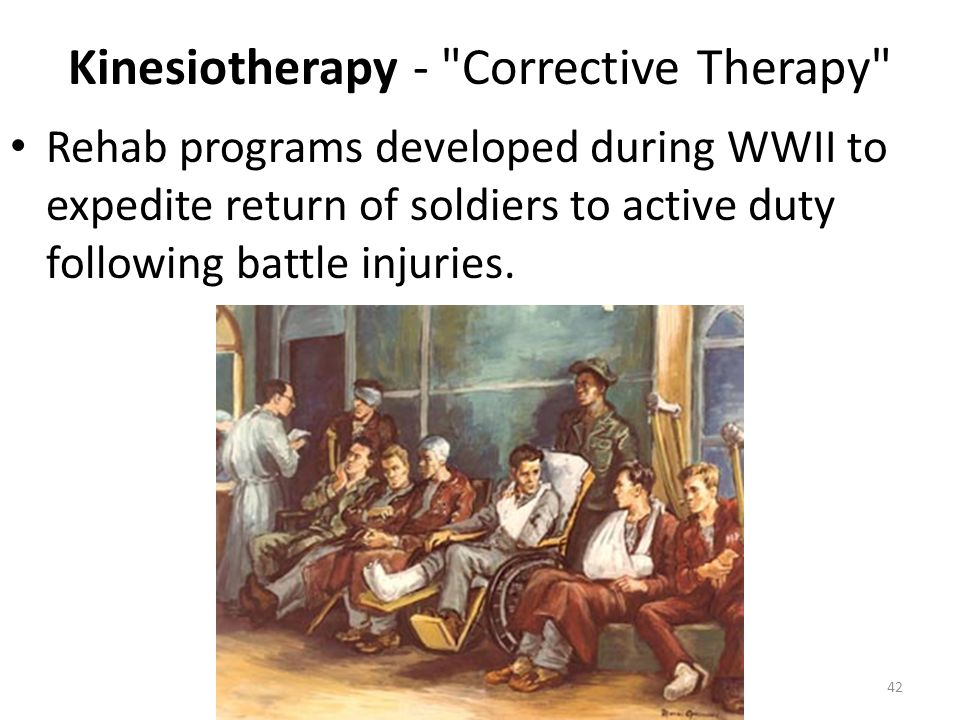 Kinesiotherapy - Corrective Therapy