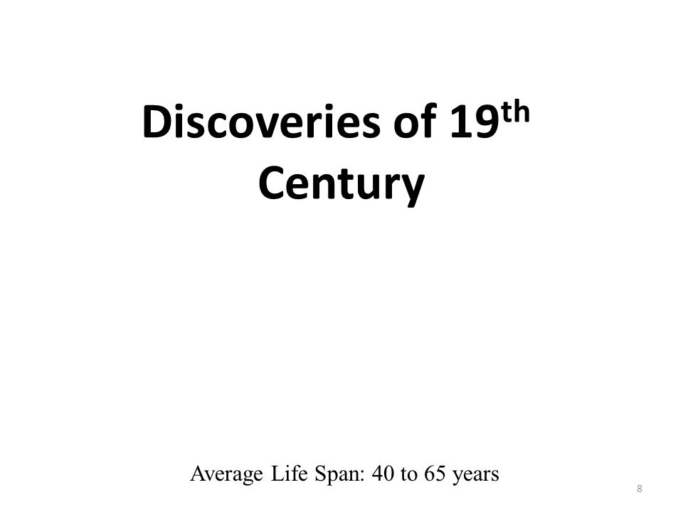 Discoveries of 19th Century