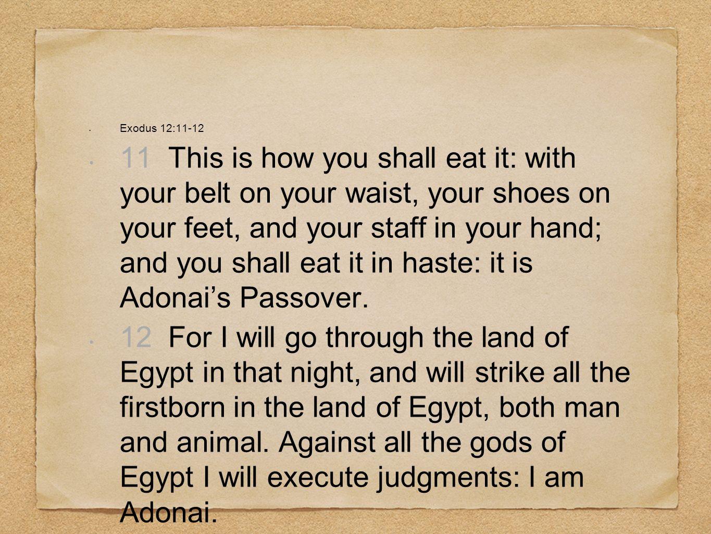Exodus 12:11-12