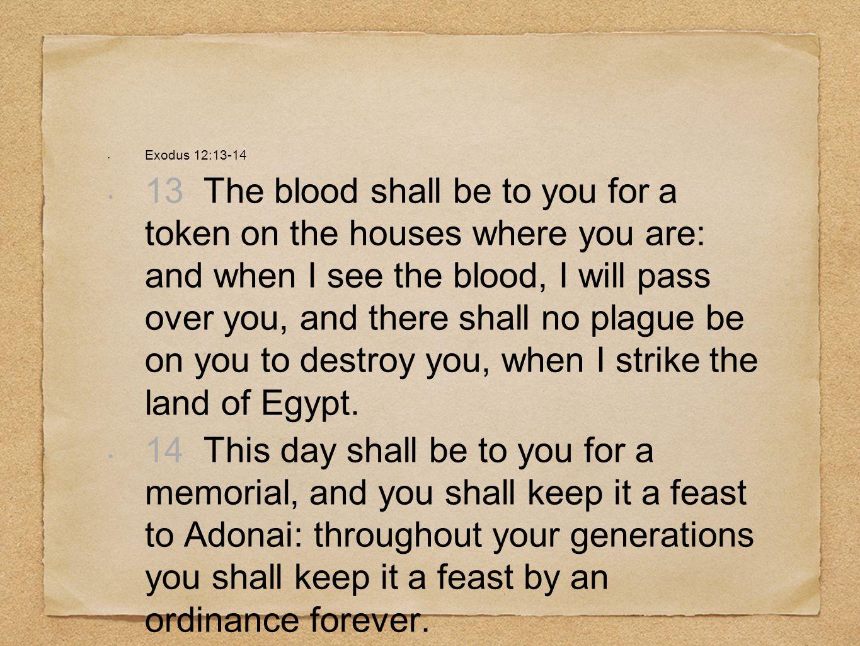 Exodus 12:13-14