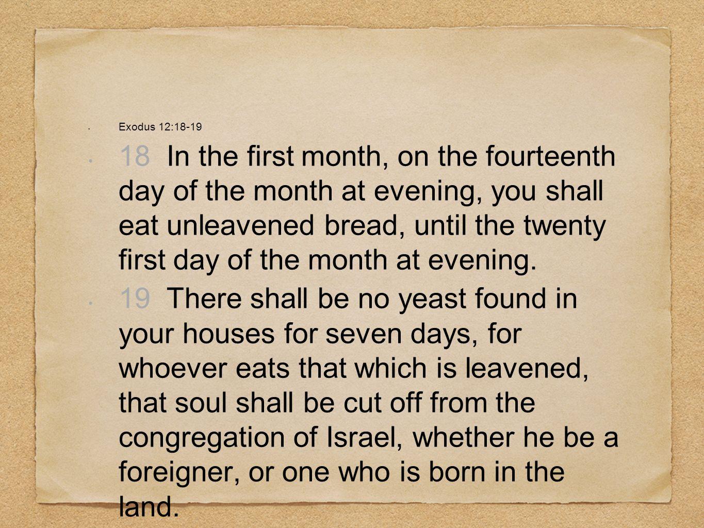 Exodus 12:18-19