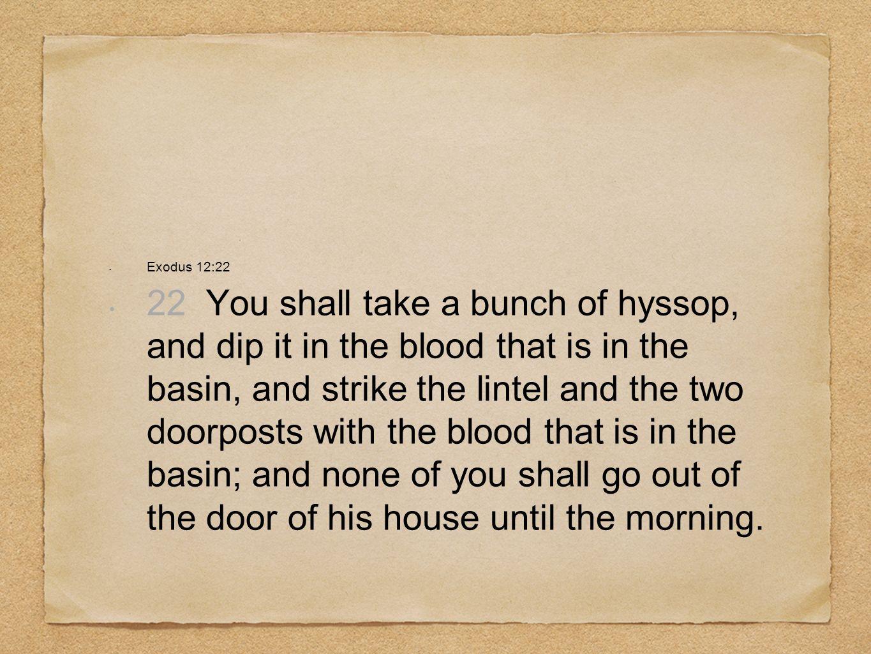 Exodus 12:22
