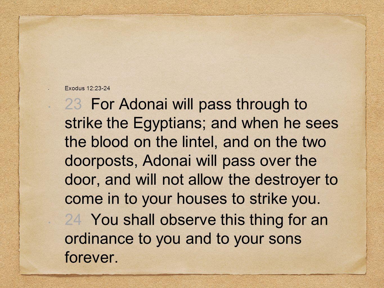 Exodus 12:23-24