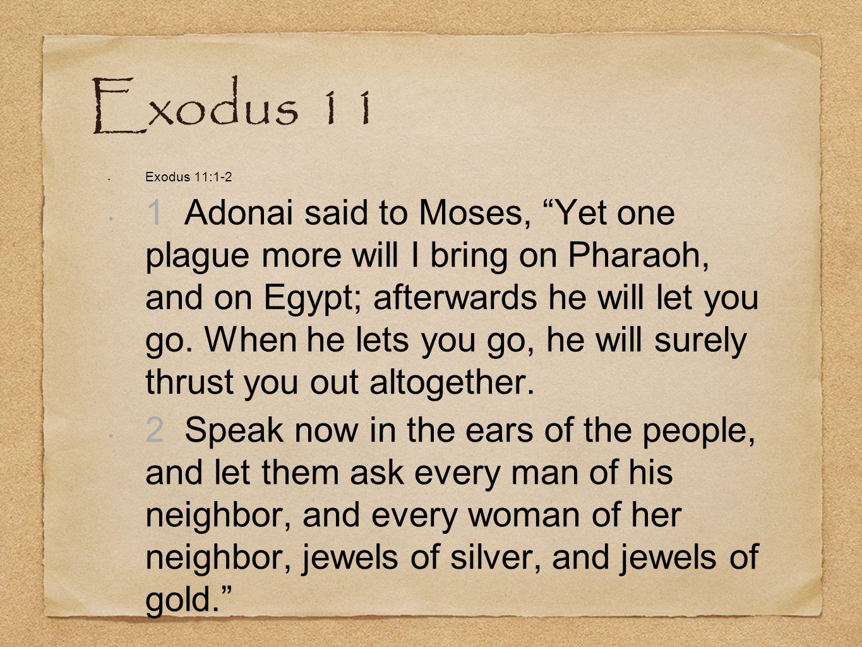 Exodus 11 Exodus 11:1-2.