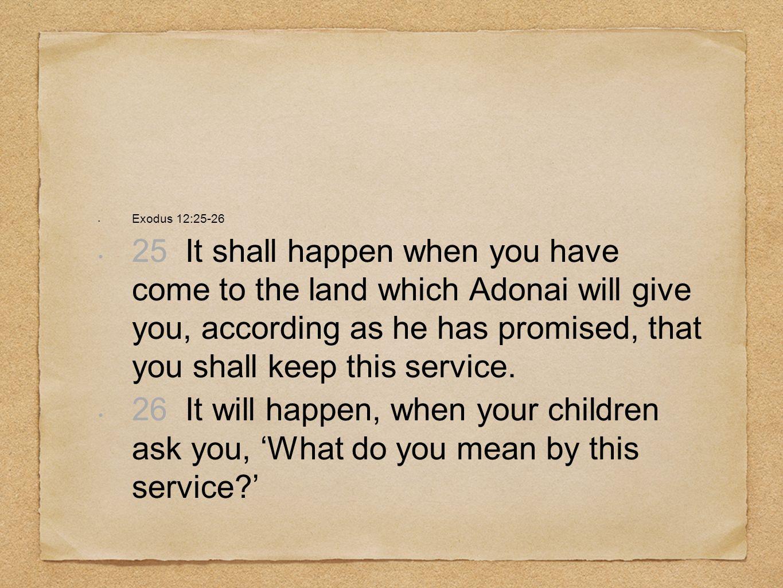 Exodus 12:25-26