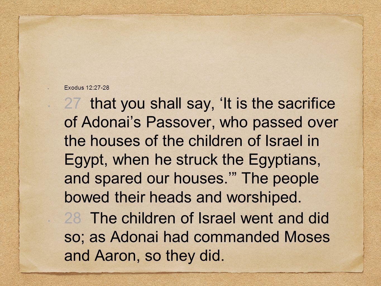 Exodus 12:27-28