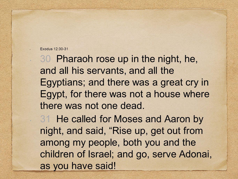 Exodus 12:30-31