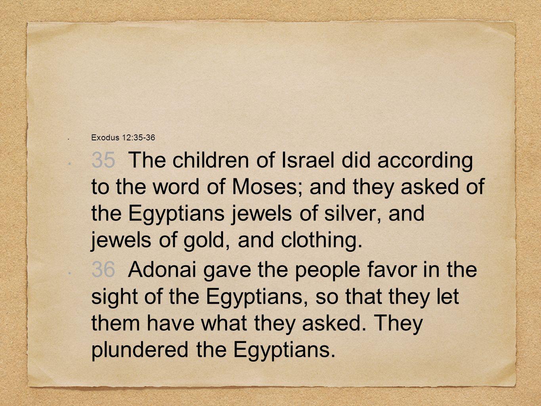 Exodus 12:35-36