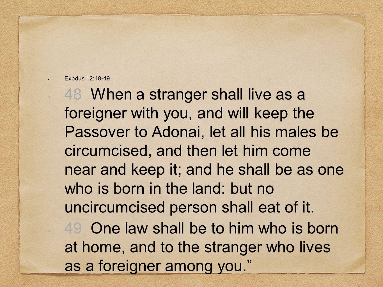Exodus 12:48-49