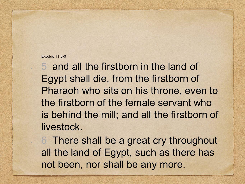 Exodus 11:5-6