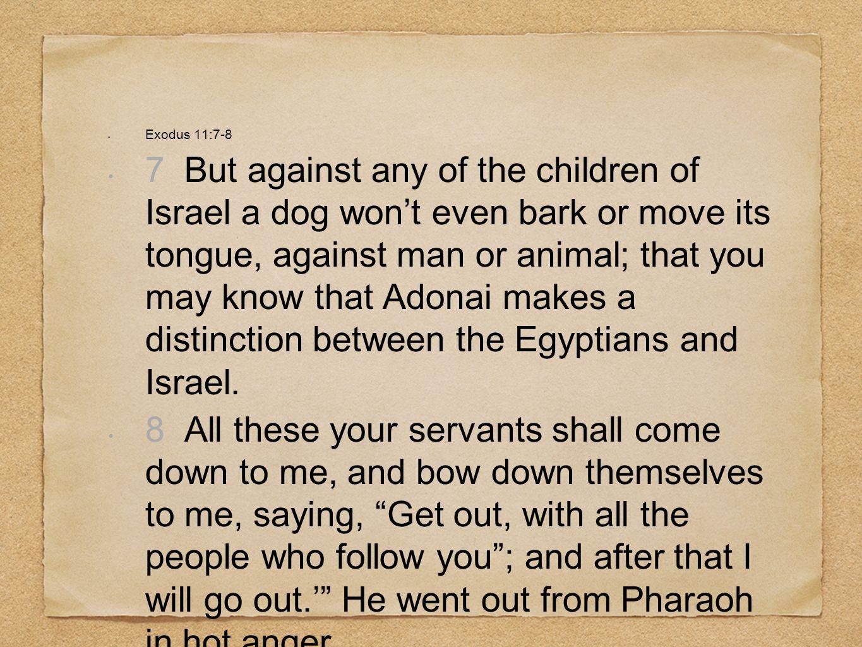 Exodus 11:7-8