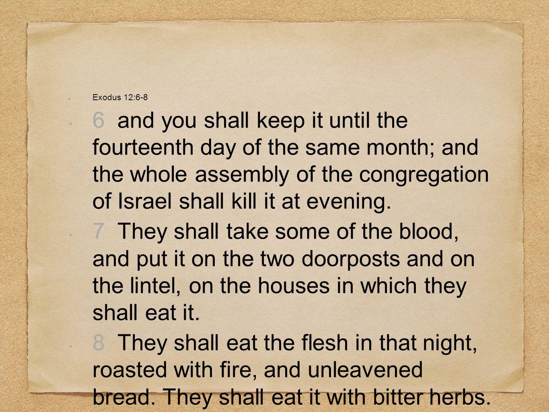 Exodus 12:6-8