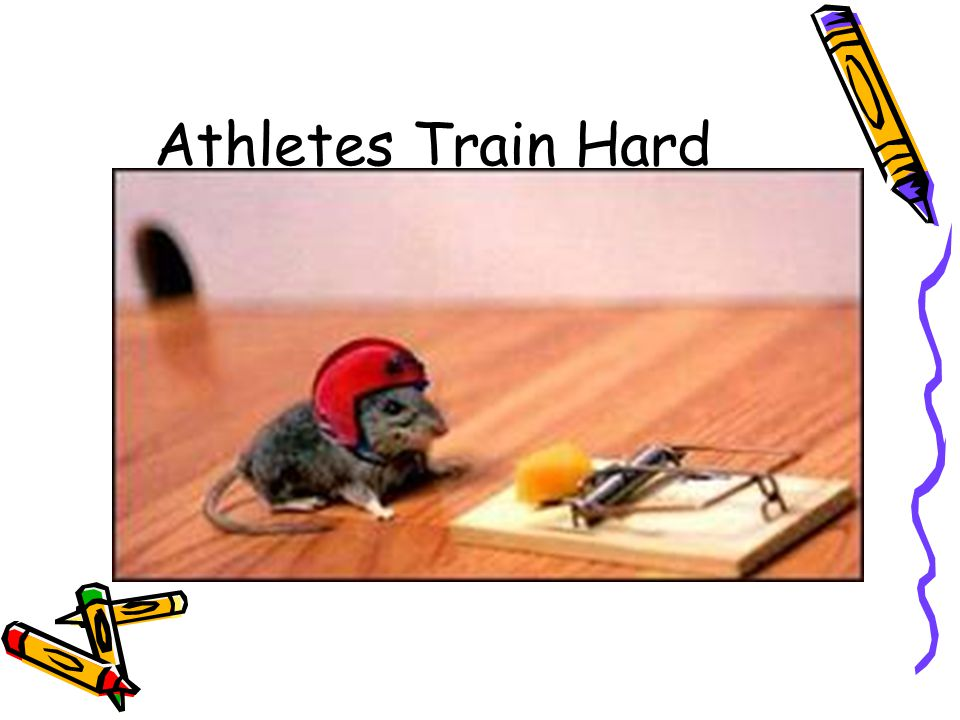 Athletes Train Hard