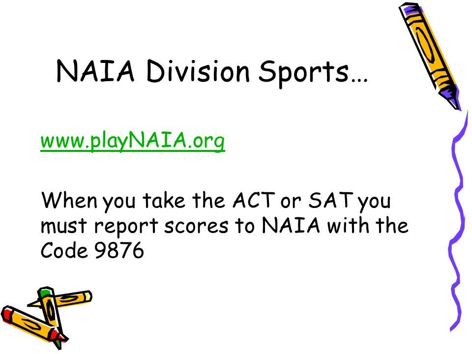 NAIA Division Sports… www.playNAIA.org