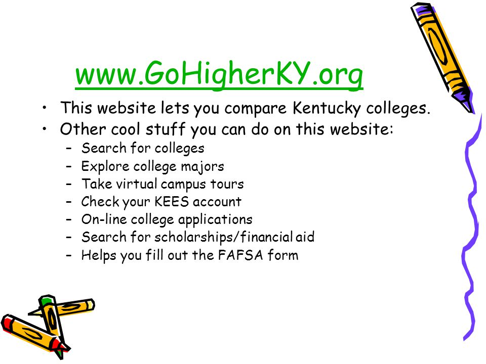 www.GoHigherKY.org This website lets you compare Kentucky colleges.