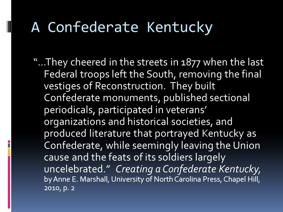 A Confederate Kentucky