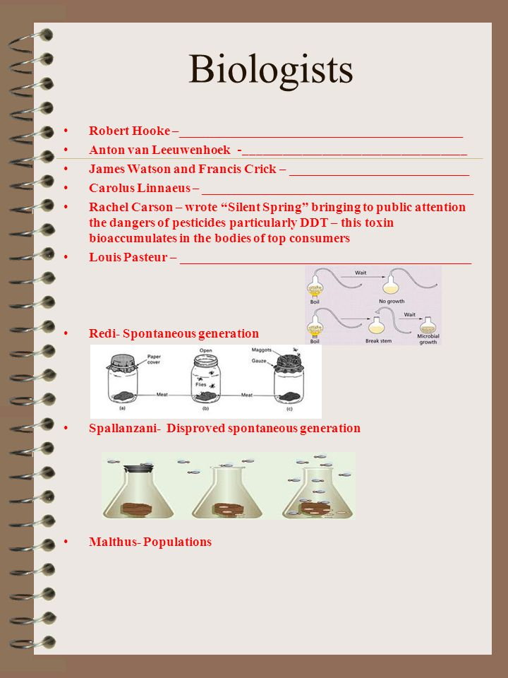 Biologists Robert Hooke –___________________________________________