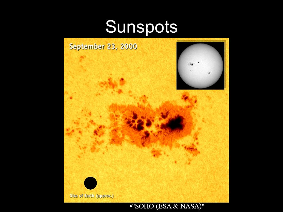 Sunspots SOHO (ESA & NASA)
