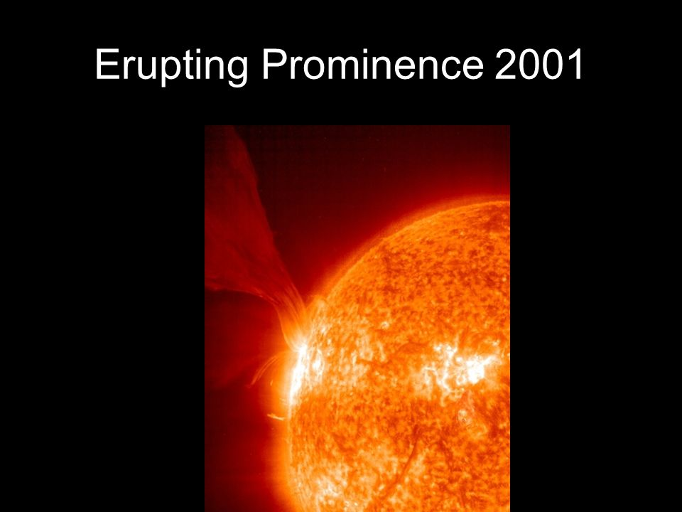 Erupting Prominence 2001