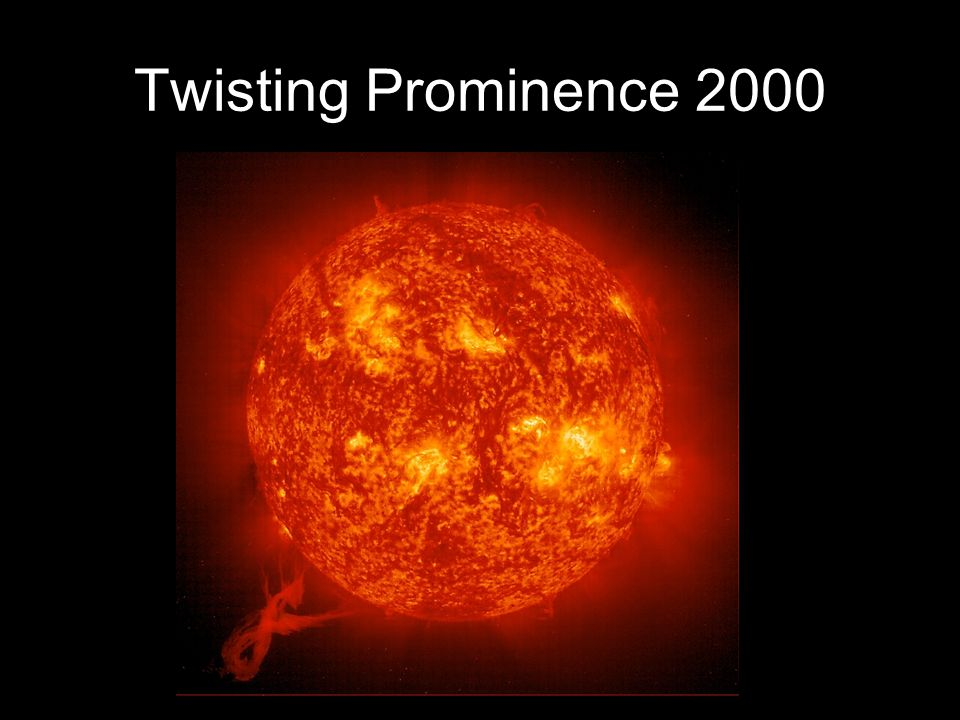Twisting Prominence 2000