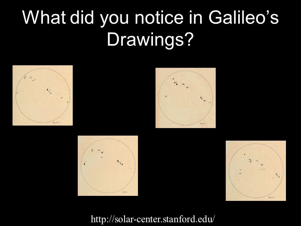 What did you notice in Galileo's Drawings