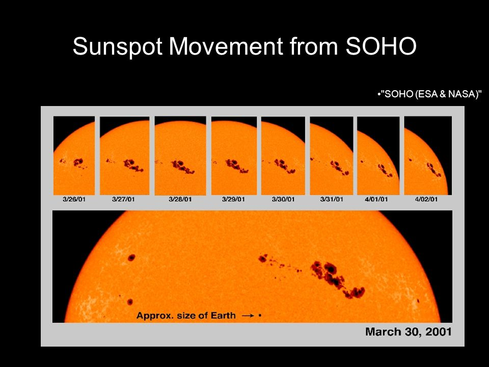 Sunspot Movement from SOHO