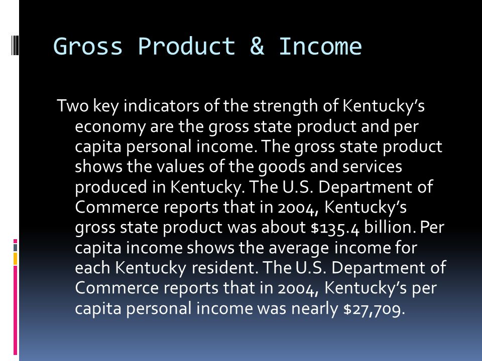 Gross Product & Income