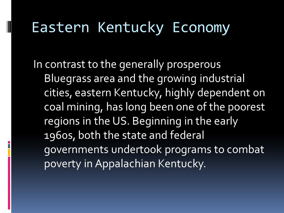 Eastern Kentucky Economy