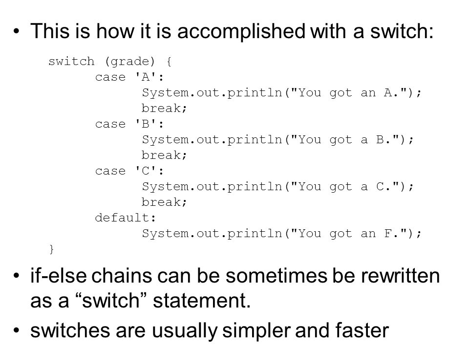This is how it is accomplished with a switch: