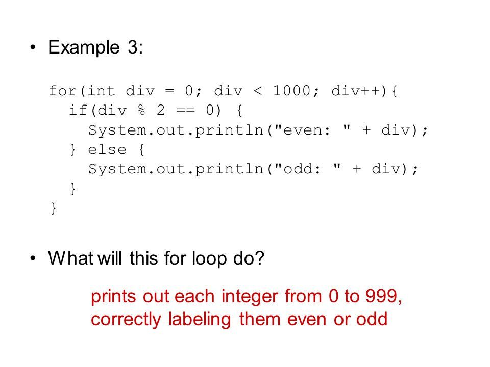 What will this for loop do