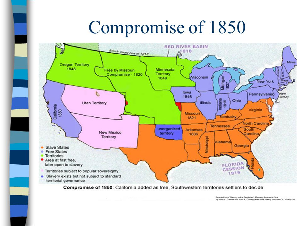an analysis of the compromise of 1850 A comprehensive analysis that more nearly defines the complex limits of the  problem of this intricate legislative episode―american historical review.