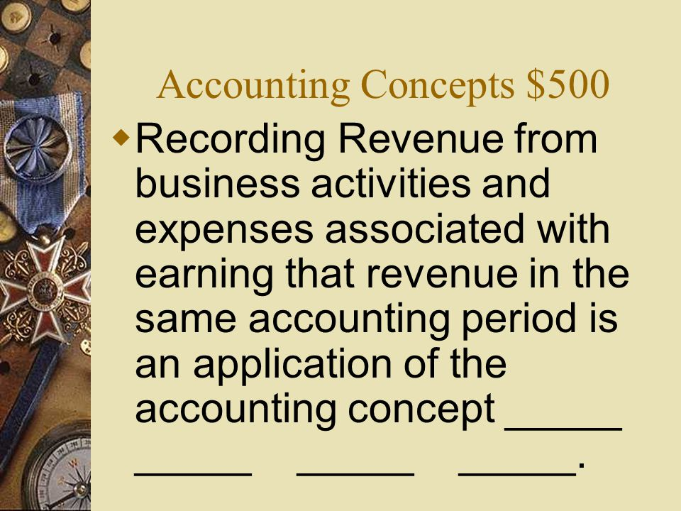 Accounting Concepts $500