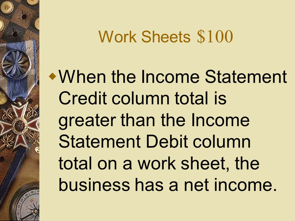 Work Sheets $100