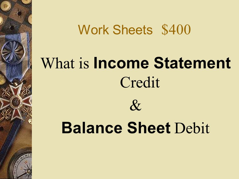 What is Income Statement Credit
