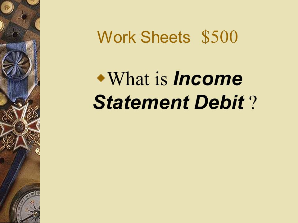 What is Income Statement Debit